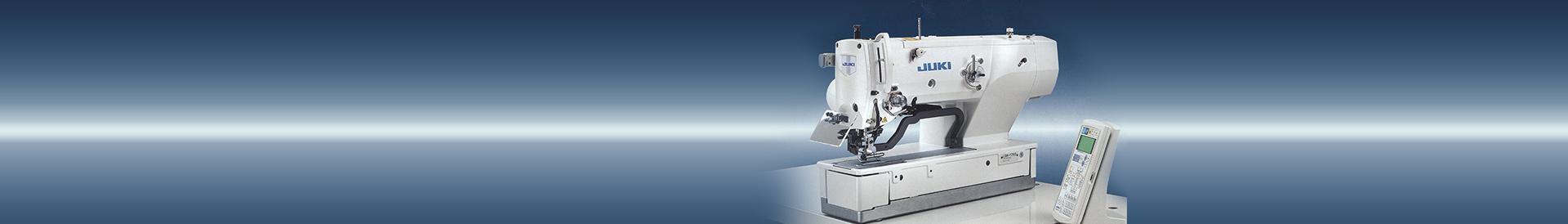Biała maszyna szwalnicza na gradientowym tle